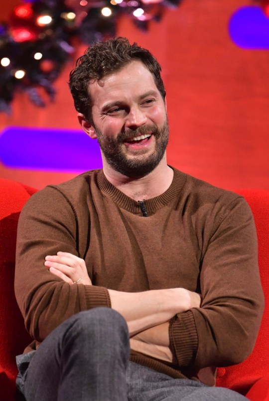 EMBARGOED TO 0001 TUESDAY DECEMBER 29 EDITORIAL USE ONLY Jamie Dornan during the filming for the Graham Norton Show at BBC Studioworks 6 Television Centre, Wood Lane, London, to be aired on BBC One on 31 December. PA Photo. Issue date: Tuesday December 29, 2020. Photo credit should read: PA Media on behalf of So TV