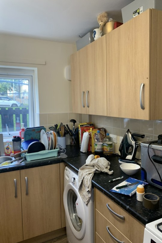 lizza's kitchen before the diy makeover