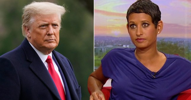 Naga Munchetty and Donald Trump