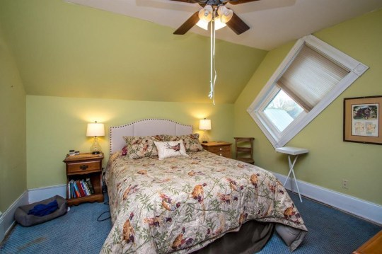 bedroom in jailhouse cottage in vermont