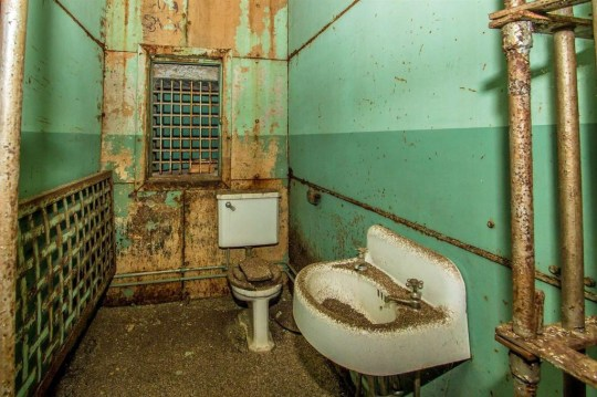toilet and sink in jail cells in vermont cottage