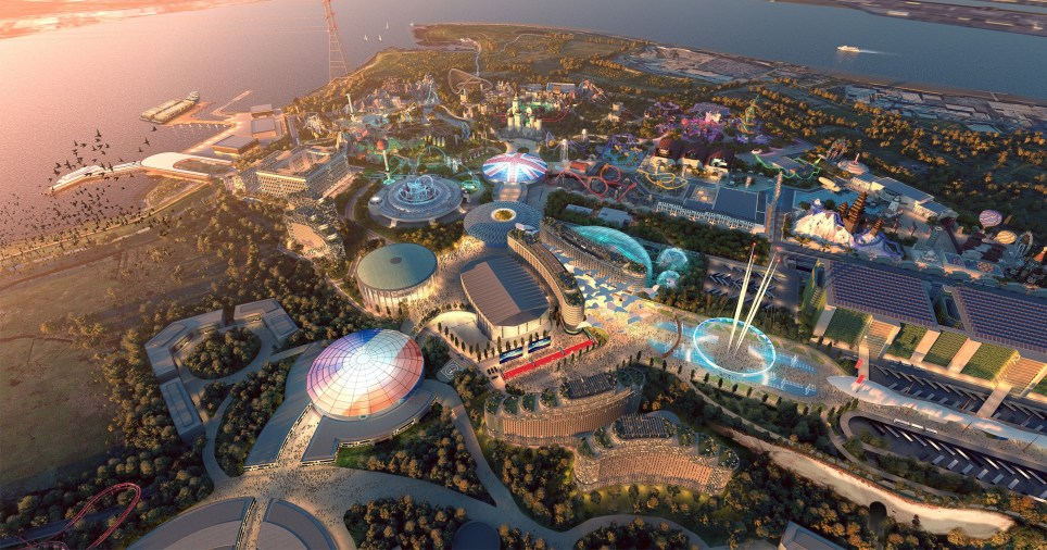 Plans for multi-billlion pound London Resort theme park dubbed the 'UK's answer to Disneyland' submitted for review