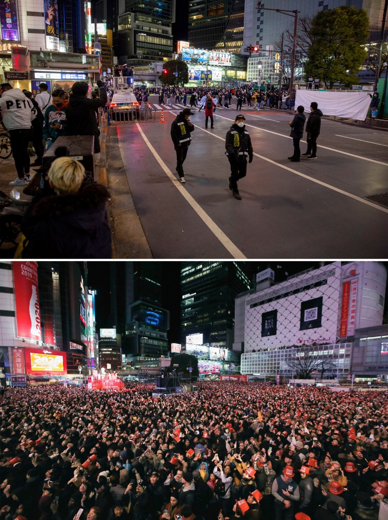 Tokyo in 2019 compared to 2020