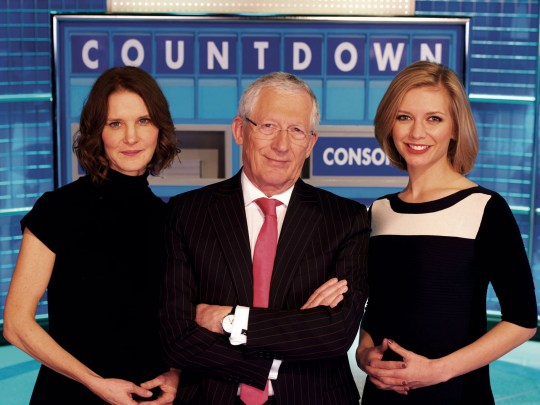 Television Programme: Countdown with (LEFT) Susie Dent, Nick Hewer and Rachel Riley.