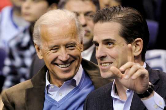Joe Biden smiling at Hunter Biden