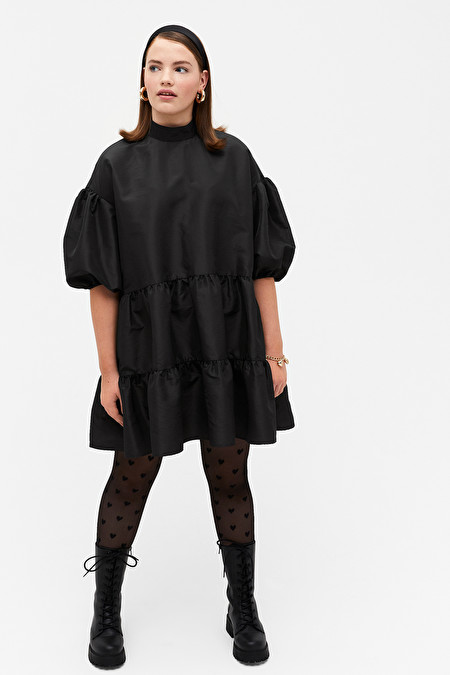 Black trapeze dress from Monki