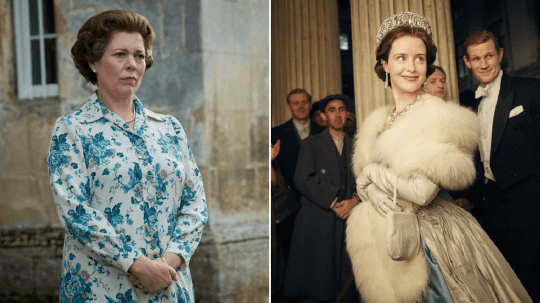 The crown claire foy and olivia colman