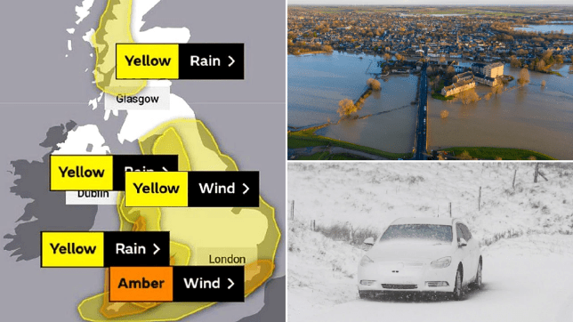 Snow and ice could spur travel chaos as Storm Bella batters UK with 80mph winds
