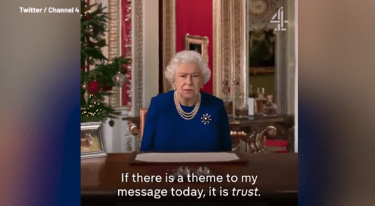 Deepfake Queen's speech