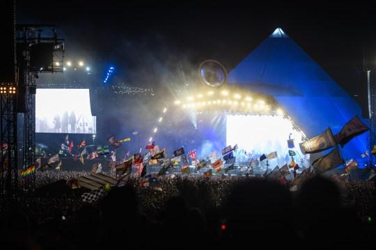 Pyramid stage at Glastonbury festival