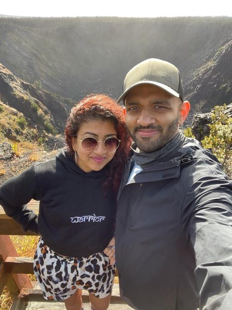 Archana Ramesh and her husband, Nikhil Satish