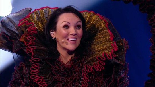 Martine McCutcheon as The Swan on The Masked Singer