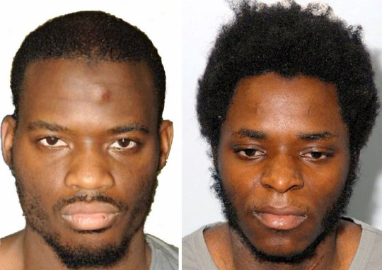Lee Rigby's killers Michael Adebolajo (left) and Michael Adebowale. Undated Metropolitan Police file handout photo of Lee Rigby's killers Michael Adebolajo (left) and Michael Adebowale. The extent of the security and intelligence agencies' prior knowledge of soldier Lee Rigby's murderers will be revealed today as a long-awaited report from a parliamentary watchdog is finally published. PRESS ASSOCIATION Photo. Issue date: Tuesday November 25, 2014. Michael Adebolajo and his younger accomplice Michael Adebowale slaughtered Fusilier Rigby in broad daylight in May last year. See PA story POLITICS Woolwich. Photo credit should read: Metropolitan Police/PA Wire. NOTE TO EDITORS: This handout photo may only be used in for editorial reporting purposes for the contemporaneous illustration of events, things or the people in the image or facts mentioned in the caption. Reuse of the picture may require further permission from the copyright holder.