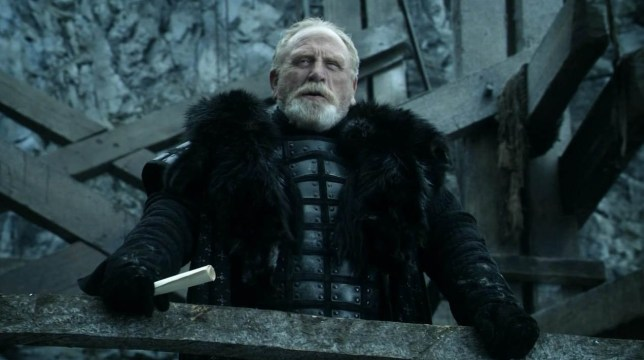 Television Programme: Game of Thrones with James Cosmo. Scots actor James Cosmo in Game of Thrones.