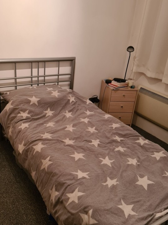 What I Rent: Adam, £450 a month for a two-bedroom flat in shrewsbury - star print duvet set on bed