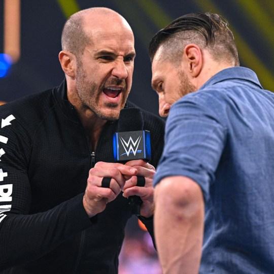 WWE superstars Cesaro and Daniel Bryan on SmackDown