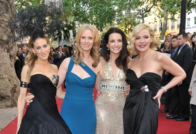Sarah Jessica Parker, Cynthia Nixon, Kristin Davis and Kim Cattrall at the Sex and the City 2 premiere
