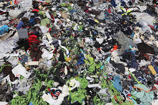 Garments factory waste dumping sites