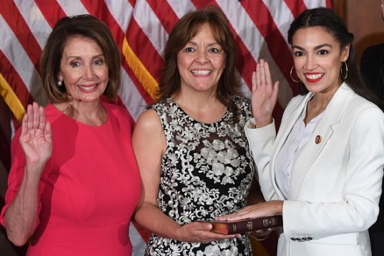AOC at her swearing in