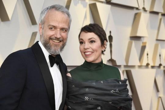 Ed Sinclair and Olivia Colman at the Oscars