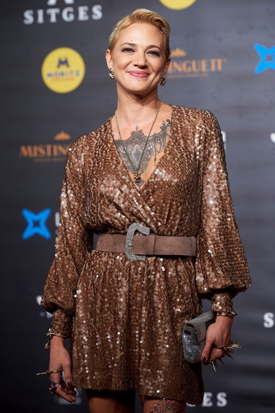 Asia Argento on red carpet