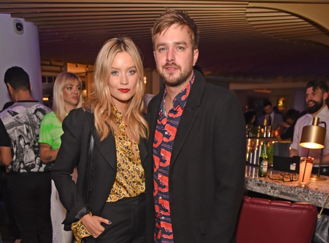 Laura Whitmore and Iain Stirling at party