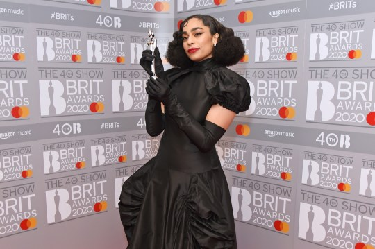 Celeste in The BRIT Awards 2020 Winners Room