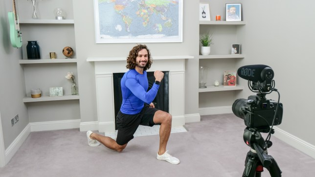 Joe Wicks exercises in his living room for BBC Children In Need and Comic Relief 'Big Night In'