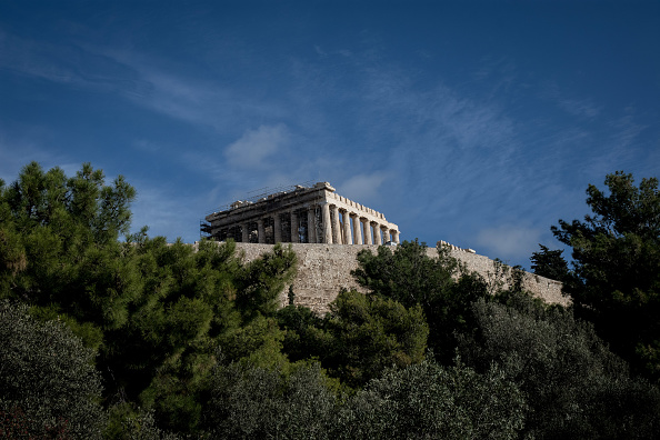 Acropolis hill in Athens, Greece