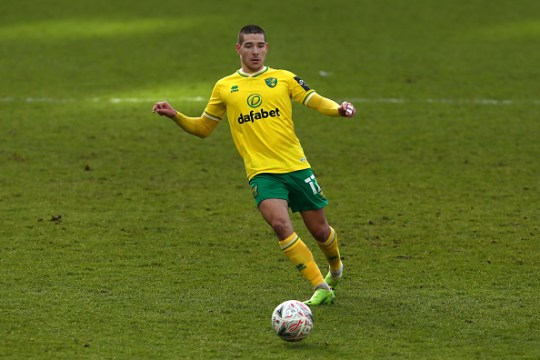 Emi Buendia of Norwich City in action during the FA Cup...