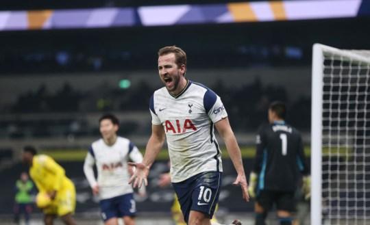 Harry Kane scored Tottenham's opener against Fulham