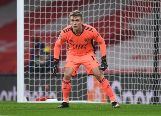 Alex Runarsson Arsenal v Manchester City - Carabao Cup Quarter Final