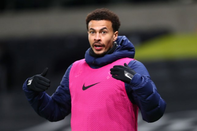 Dele Alli looks on during Tottenham's clash with Brentford