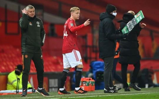 Donny van de Beek Manchester United v Manchester City - Carabao Cup Semi Final