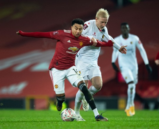 Jesse Lingard has made just three appearances for Manchester United this season