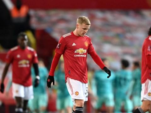 Ole Gunnar Solskjaer rates Donny van de Beek's performance vs Liverpool