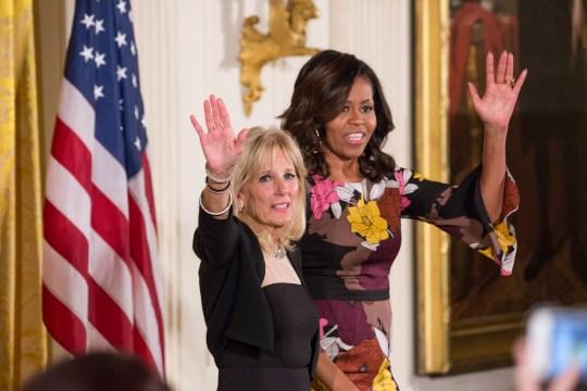 Dr Jill Biden and Michelle Obama