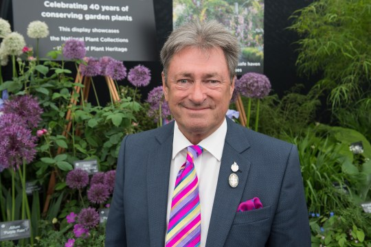 Alan Titchmarsh at the Chelsea Flower Show 2018 - Press Day