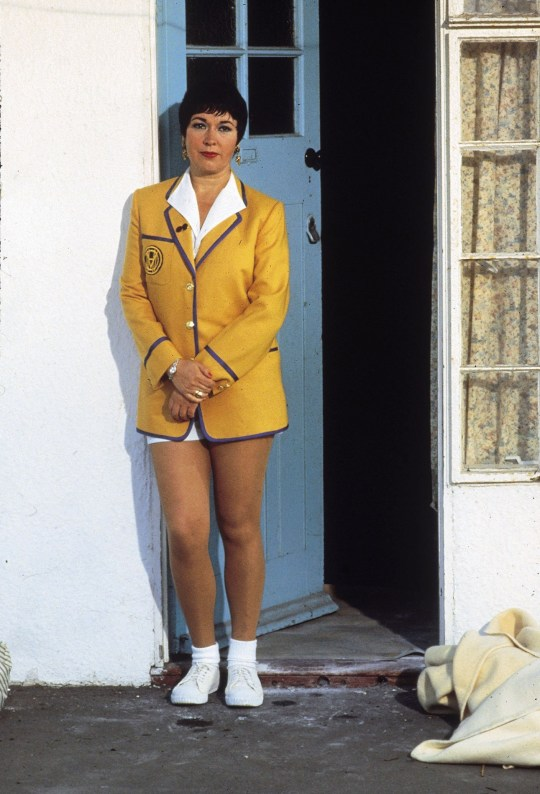 TELEVISION PROGRAMME ' Hi De Hi' Ruth Madoc pictured as Maplins' Yellowcoat Gladys Pugh in the BBC sitcom.