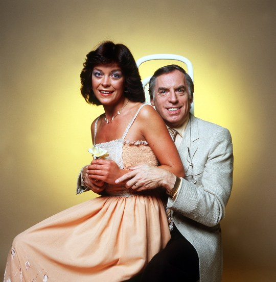 Television programme, 'Cuddly Toys and Conveyor Belts', transmitted 1/9/99. Picture Shows:Larry Grayson and Isla St. Clair BBC1 celebrates it's 21st series of fun and frolics with The Generation Game.