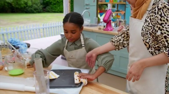Naima on Junior Bake Off