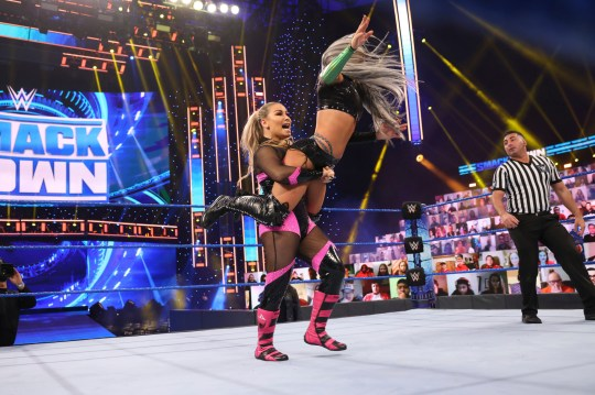 WWE superstar Natalya catches Liv Morgan on SmackDown