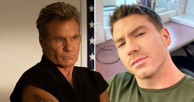 Martin Kove in Cobra Kai and his son Jesse Kove