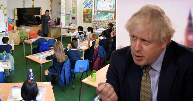 Boris Johnson urges parents to send their children back to school on Monday, insisting they are safe.