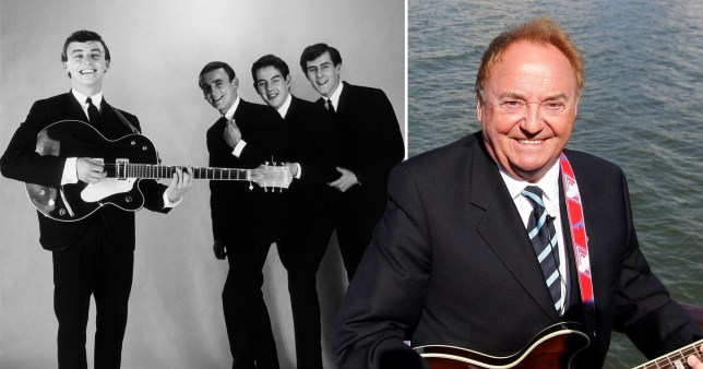 Gerry Marsden performing with Gerry and the Pacemakers