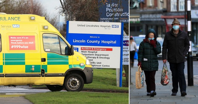 An ambulance outside Lincoln County Hospital