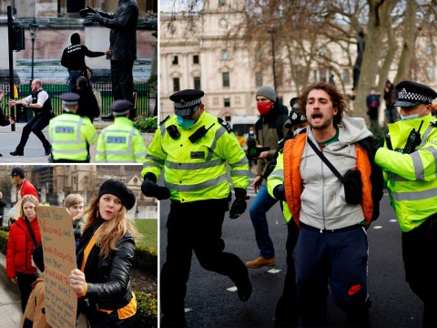 Anti-lockdown protesters arrested after police vow crackdown on rule breakers