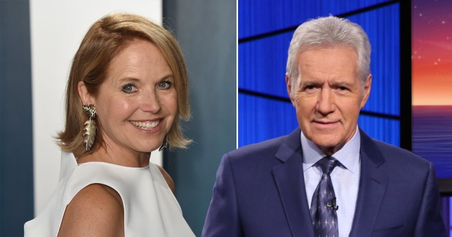 News anchor Katie Couric and late Jeopardy host Alex Trebek
