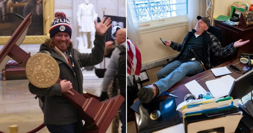 Capitol riots: Pro-Trump protesters loot building
