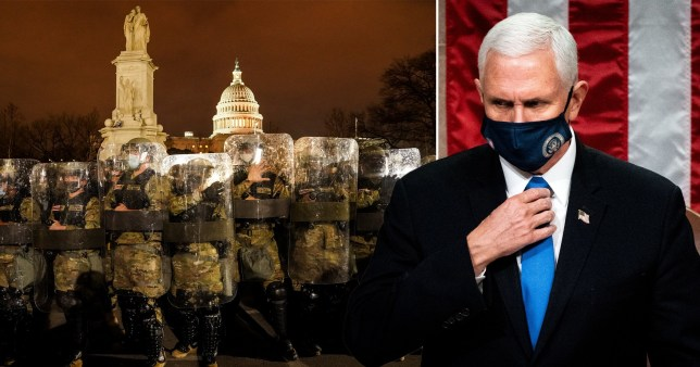 Composite image Mike Pence and Capitol Hill